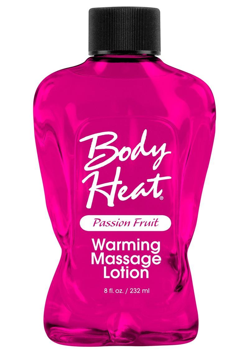 Body Heat Edible Warming Massage Lotion Passion Fruit 8 Ounce