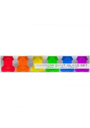 Ladies Night Rainbow Shot Glass Set Assorted Colors 6 Each