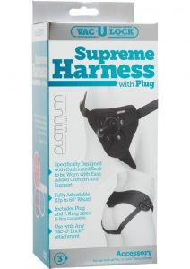 Vac U Lock Platinum Supreme Harness With Plug Black Adjust Up To 60 Inch Waist
