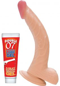 All American Whopper Curve Dong With Balls Flesh 8 Inch