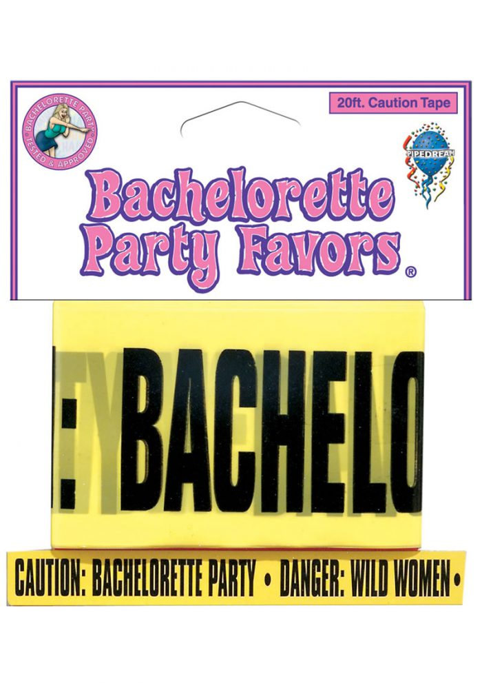 Bachelorette Party Favors Caution Tape Yellow 20 Feet
