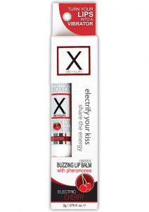 X On The Lips Buzzing Lip Balm With Pheromones Electric Cherry .75 Ounce