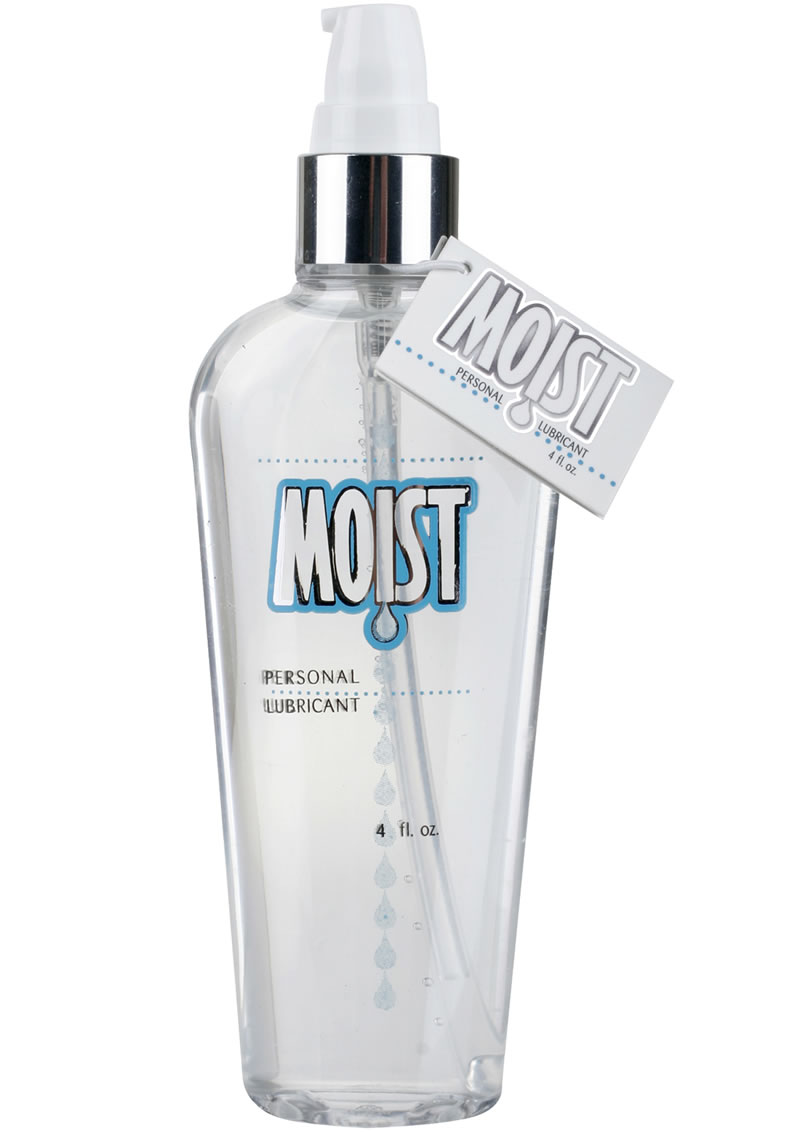 Moist Personal Water Based Lubricant 4 Ounce Pump