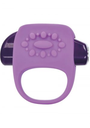 Key Halo Silicone Vibrating Ring Waterproof Lavender