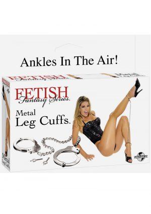 Fetish Fantasy Metal Leg Cuffs Silver