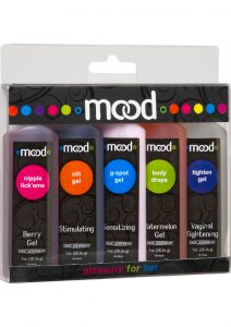 Mood Pleasure For Her Enhancement Gels Assorted Gels 1 Ounce 5 Each Per Pack