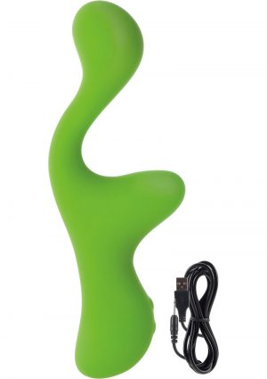 Lust L16 Silicone Dual Vibrator Waterproof Green 6.75 Inch