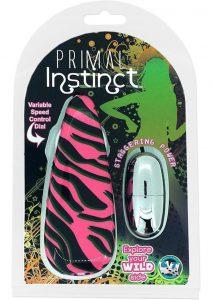 Primal Instinct Wired Remote Control Bullet Zebra Print Pink