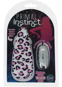 Primal Instinct Wired Remote Control Bullet Leopard Print Pink
