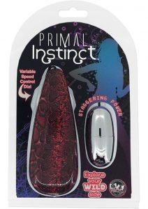 Primal Instinct Wired Remote Control Bullet Snake Print Red