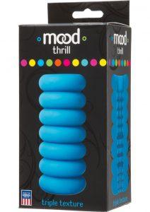 Mood Thrill Triple Texture Masturbator Blue