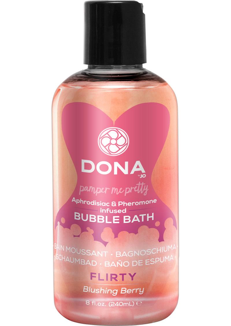 Dona Aphrodisiac and Pheromone Infused Bubble Bath Flirty Blushing Berry 8 Ounce