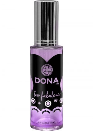 Dona Aphrodisiac and Pheromone Infused Perfume Spray Too Fabulous 2 Ounce