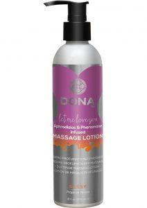Dona Aphrodisiac and Pheromone Infused Massage Lotion Sassy Tropical Tease 8 Ounce