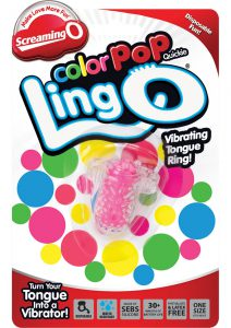 Screaming O Color Pop Quickie Lingo Silicone Vibrating Tongue Ring Waterproof Pink