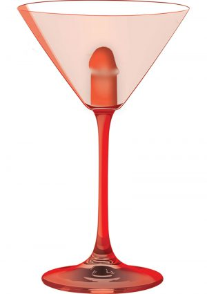 Light Up Martini Weenie Glass Red