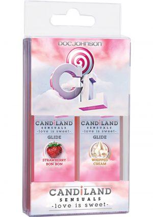 Candiland Sensuals Body Glide 2 Pack Whip Cream/Strawberry Bon Bon 1 Ounce Each