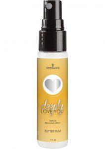 Deeply Love You Throat Relaxing Spray Butter Rum 1 Ounce Spray
