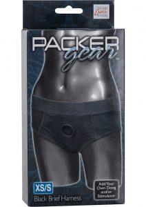 Packer Gear Brief Harness Black Xtra Small/Small