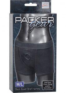 Packer Gear Boxer Brief Harness Black Medium/Large
