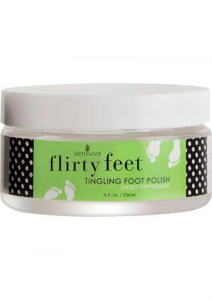 Flirty Feet Tingling Foot Polish Sweet Peppermint 8 Ounce
