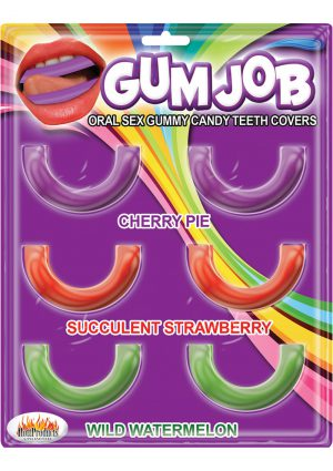 Gum Job Oral Sex Gummy Candy Teeth Covers Assorted Flavors 6 Each Per Pack