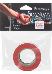 Scandal Be Naughty Lovers Tape Restraint Red 4 Feet