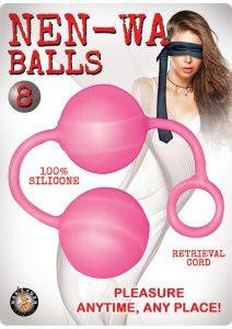 Nen-Wa Balls 8 Silicone Waterproof Pink