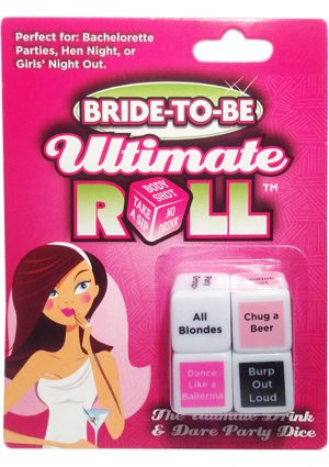 Bride To Be Ultimate Roll Drink And Dare Party Dice Game