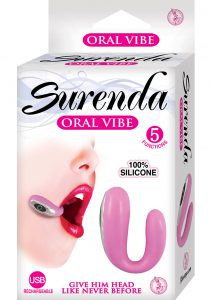Surenda Silicone Oral Vibe Rechargeable 5 Function Waterproof Pink 2.25 Inch