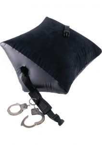 Fetish Fantasy Series Deluxe Position Master Inflatable Pillow With Cuffs Black