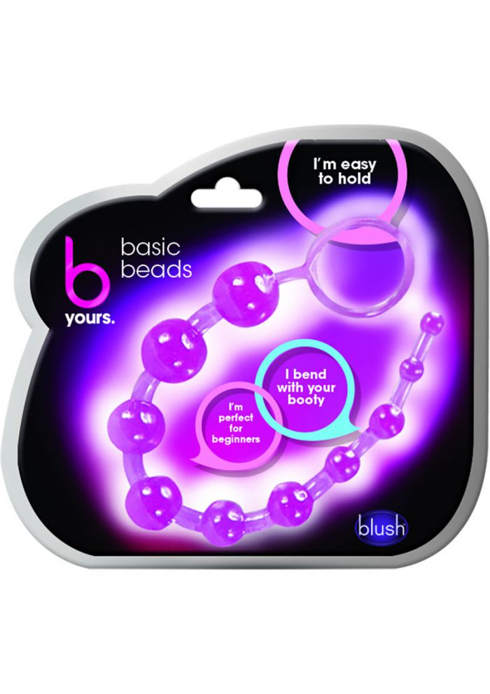 B Yours Basic Beads Purple 12.75 Inch