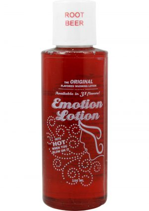 Emotion Lotion Flavored Water Based Warming Lotion Root Beer 4 Ounce