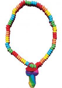 Rainbow Pecker Canky Necklace