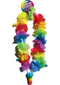 Rainbow Light Up Pecker Flower Necklace