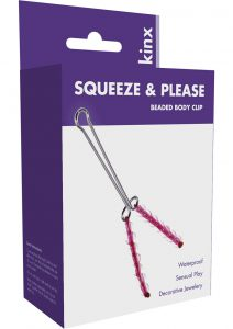 Kinx Squeeze and Please Beaded Body Clip Decorative Clitoral Jewelery Waterproof Pink