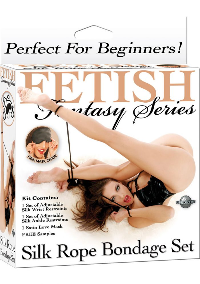 Fetish Fantasy Series Silk Rope Bondage Set Black