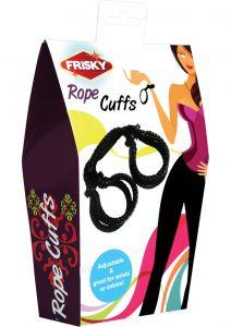 Frisky Rope Wrist Ankle Cuffs Black