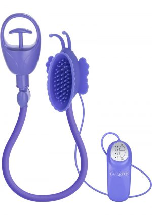 Advanced Butterfly Silicone Clitoral Pump Waterproof Purple