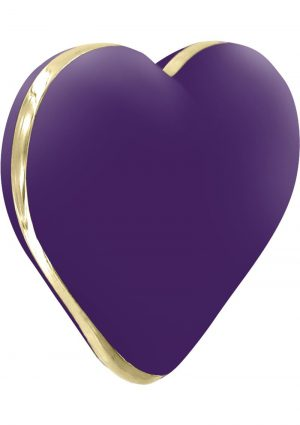 Rianne S USB Rechargeable Silicone Heart Vibe Deep Purple