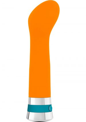 Aria Hue G Silicone Vibe Waterproof Orange 6.5 Inch