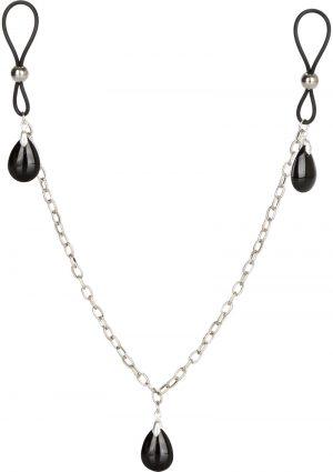 Nipply Play Non Piercing Nipple Chain Jewelry Onyx