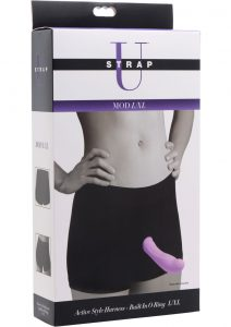 Strap U Mod Active Style Harness And Built In O-Ring Black And Pink Large/Extra Large