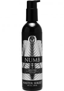 Master Series Numb Desensitize Water Base Lube 8 Ounce