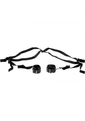 Strict Sex Position Supporting Sling Adjustable Padded Restraints Black