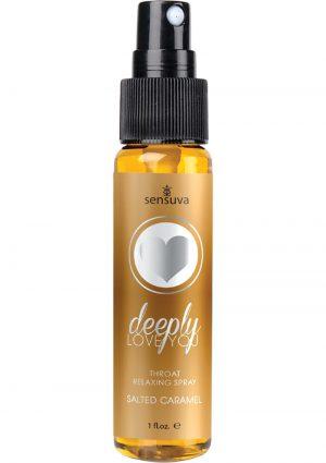 Deeply Love you Throat Relaxing Spray Salted Caramel 1 Fl Oz