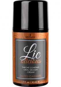 Licolicious Throat Coating Oral Delight Cream Salted Caramel 1.7 Fl Oz