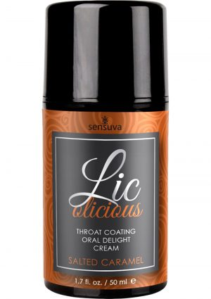 Licolicious Throat Coating Oral Delight Cream Salted Caramel 1.7 Fl Oz