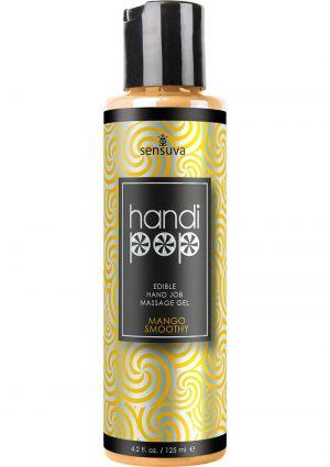 Handi Pop Edible Hand Job Massage Gel Mango Smoothy 4.2 Fl Oz