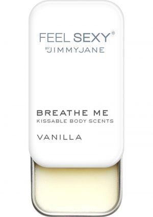 JimmyJane Feel Sexy Breathe Me Kissable Body Scents Vanilla .28 Ounce Tin